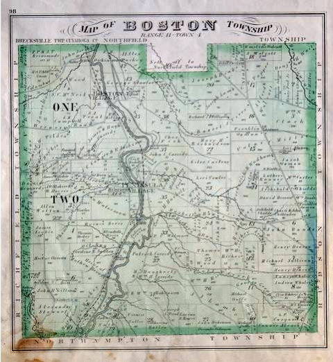 1874 map of Boston Township