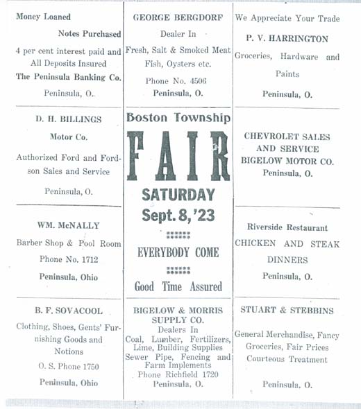 1923 Boston Township Fair